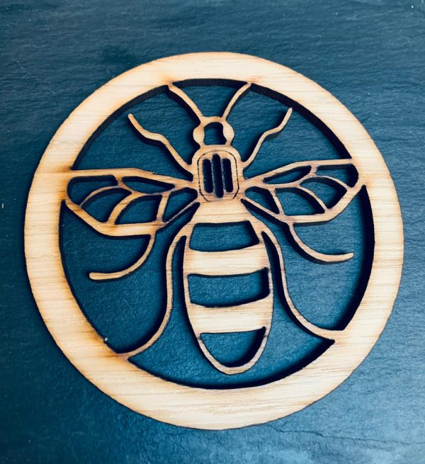 Bee Coaster Set 4 With Stand