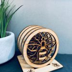 Bee Coaster Set 4 With Stand 1