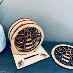 Bee Coaster Set 4 With Stand 2