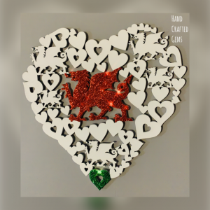 Welsh Dragon Heart Wall Art