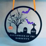 "Personalised Halloween At The ""Family Name"" Hanger 1"
